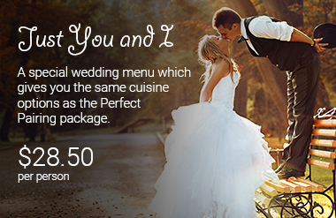 Just You and I wedding catering package by PC Events