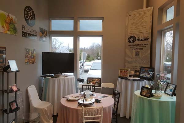 An wedding display for PC Events Catering in Powell OH