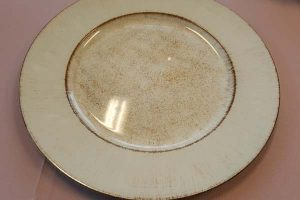 rustic looking plate for catering