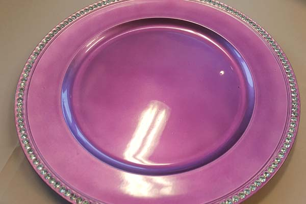 purple plate for catering