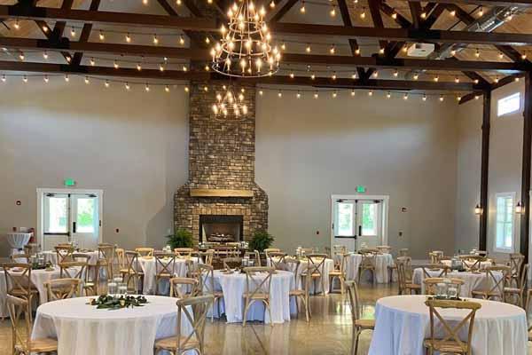 Four Seasons Barn wedding venue interior