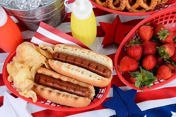 Holiday catering for Labor day, 4th of July and Memorial Day.