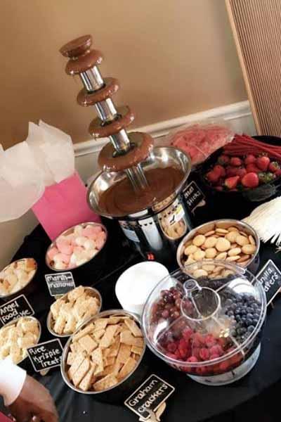 Chocolate fountain desert catering