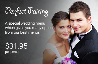 The Perfect Pairing Wedding Catering Package by PC Events