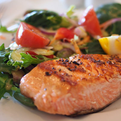 sit down dinner catering salmon teriyaki