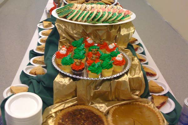 holiday themed cookies and desserts catered by PC Events
