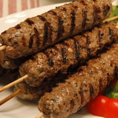 Indian lamb skewers catering