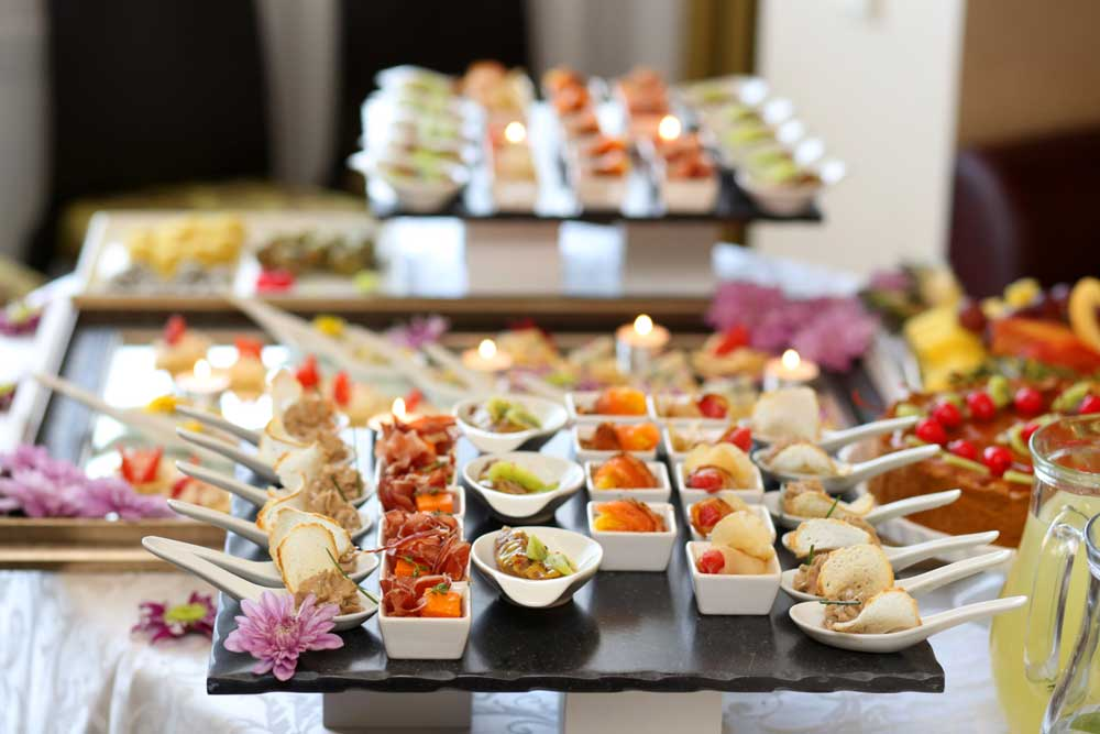 A collection of small appetizers