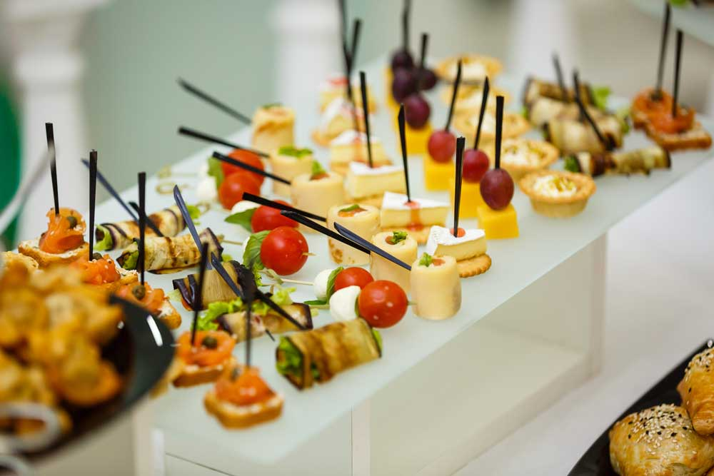 Finger foods on display