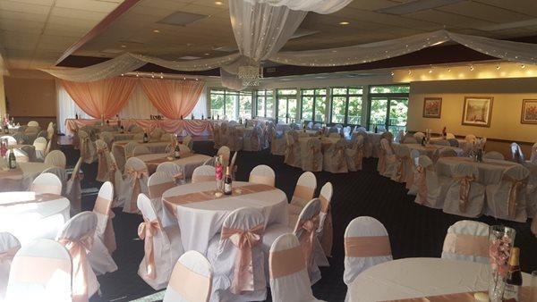 York Golf Club wedding setup