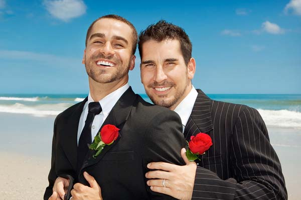 wedding catering for gay couple